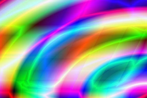 Papier peint déco Courbes de couleurs
