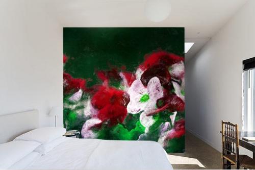 Papier peint Fleur Champètre