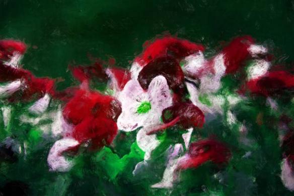 Papier peint peinture fleur