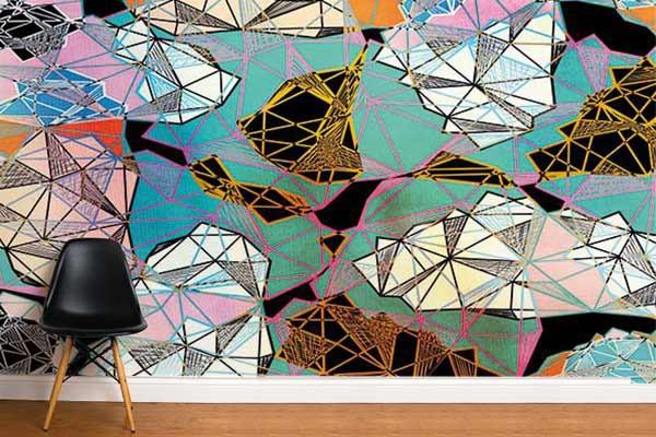 Papier peint graphique larimar - Papier peint original chambre ...