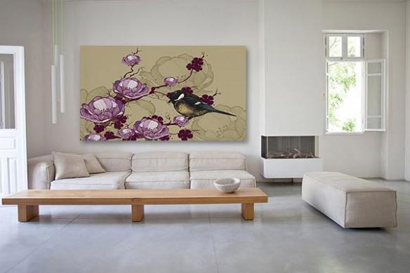 Tableau Zen Prunier en Fleurs