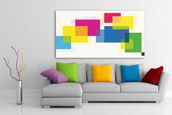 Tableau abstrait carr s de couleurs par jonathan berne izoa for Tableau art contemporain design decoration