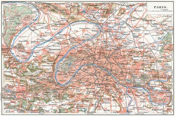 Papier peint original Plan de Paris