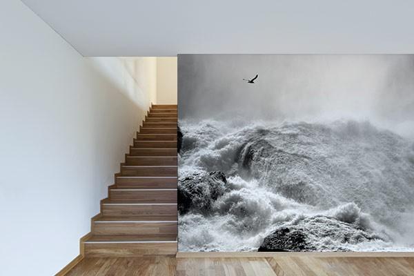 papier peint trompe l 39 oeil houle izoa. Black Bedroom Furniture Sets. Home Design Ideas