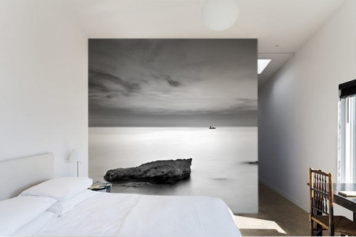 papier peint paysage mer et nuage tapisserie montagne et ville izoa. Black Bedroom Furniture Sets. Home Design Ideas