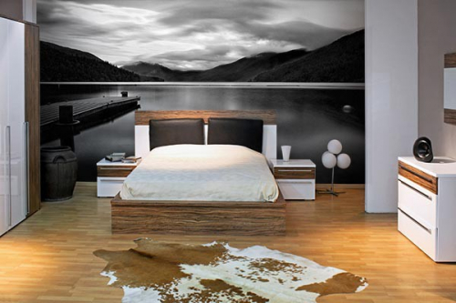 papier peint trompe l 39 oeil lac titicaca izoa. Black Bedroom Furniture Sets. Home Design Ideas