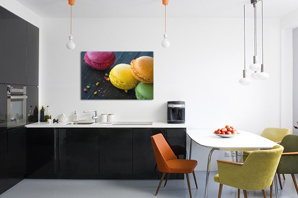 tableau d co xxl macarons izoa. Black Bedroom Furniture Sets. Home Design Ideas