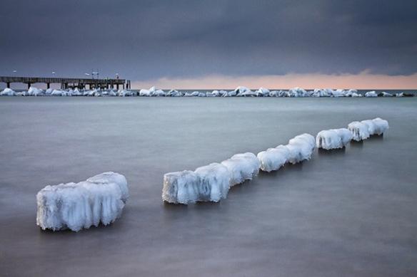 lac en hiver poster déco