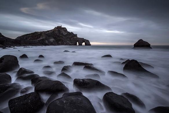 plage mer du nord roches flottantes