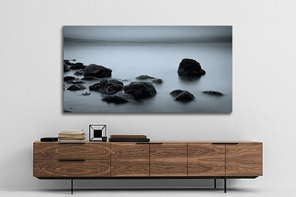 tableau noir et blanc eau paisible izoa. Black Bedroom Furniture Sets. Home Design Ideas