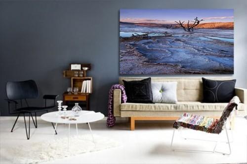 Tableau moderne peinture du désert