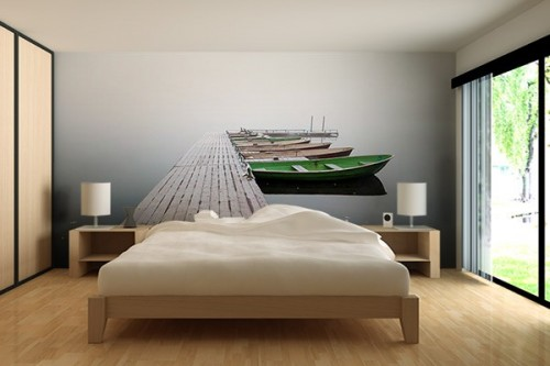 papier peint zen izoa. Black Bedroom Furniture Sets. Home Design Ideas