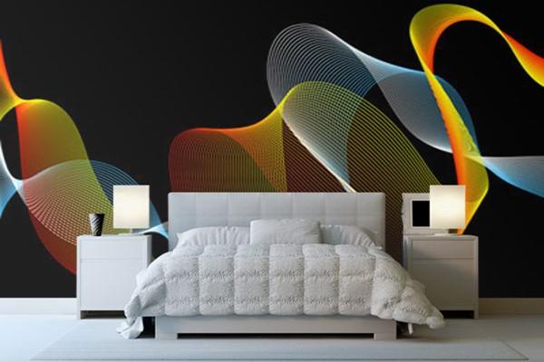 papier peint d coration les rubans izoa. Black Bedroom Furniture Sets. Home Design Ideas