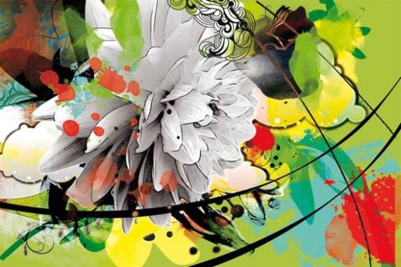 Tableau déco design Fleur d'été