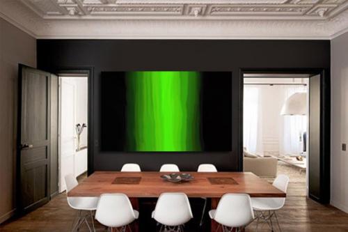 Tableau design Melty vert