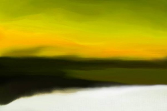 Tableau peinture Acalmie jaune