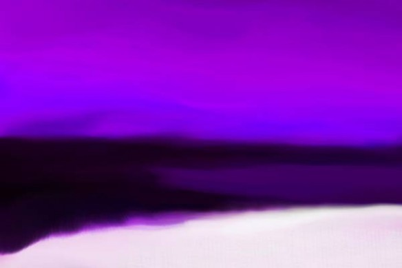 peinture moderne Acalmie violet