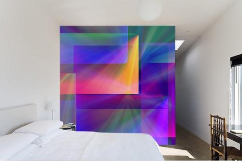 Papier peint abstrait Patchwork