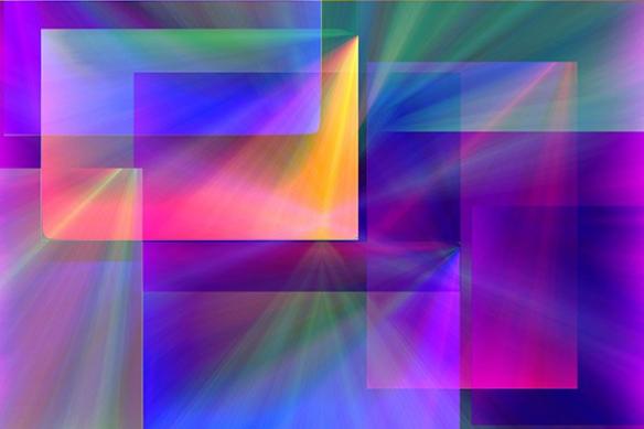 Papier peint abstrait Patchwork violet