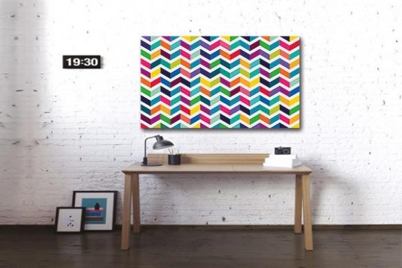 Tableau abstrait Colorful