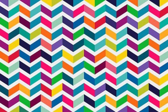 Tableau abstrait design Colorful