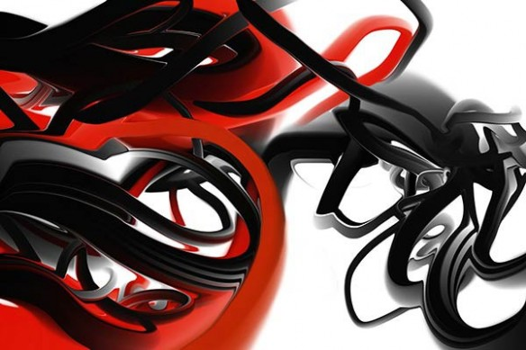 toile design Trix rouge