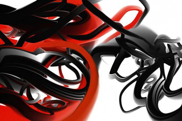 Papier peint moderne Trix rouge