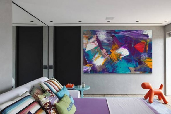 Tableau chambre peinture abstrait Intuition