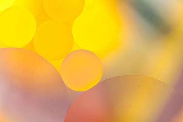 buée goutelettes jaunes déco mural