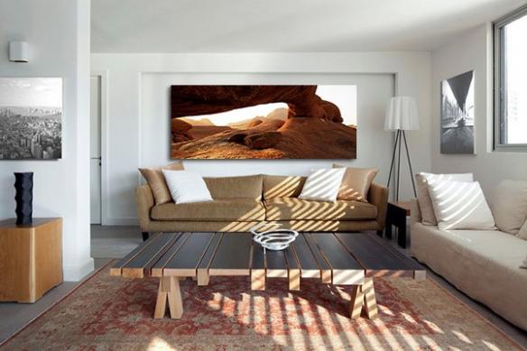 Tableau photo aride panoramique