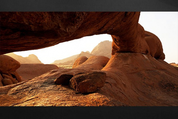 Tableau deco deserrt aride panoramique