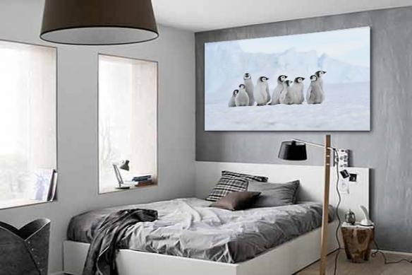Tableau Design Troupe de pinguins