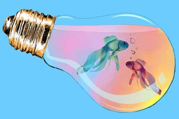 Tableau décoration contemporain ampoule