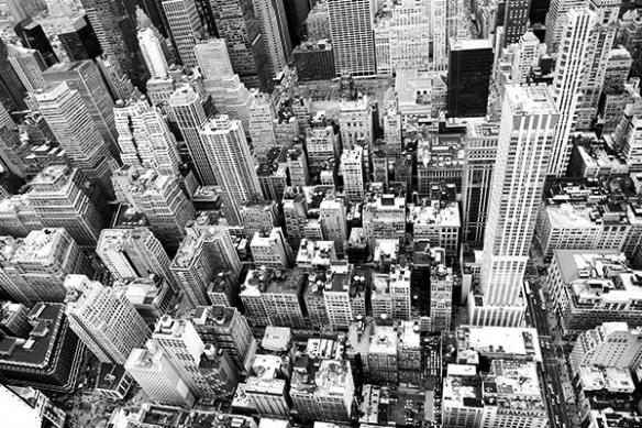 toile New York sommet du building