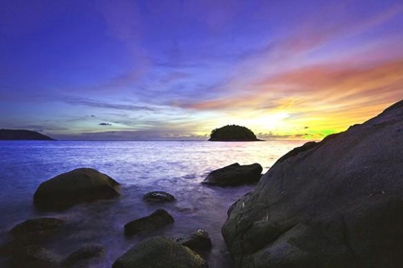 Tableau plage Purple