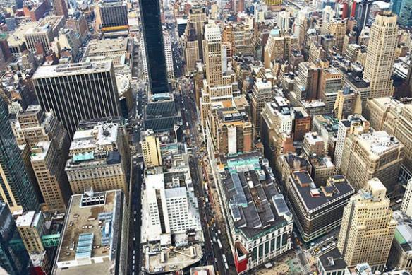 tapisserie chambre au dessus de Manhattan