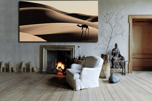 Tableau Deco Chameau Desert