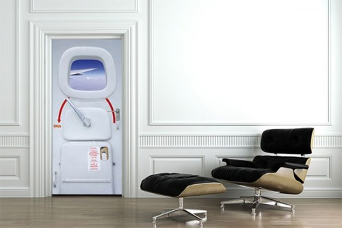 Sticker Porte Design Avion