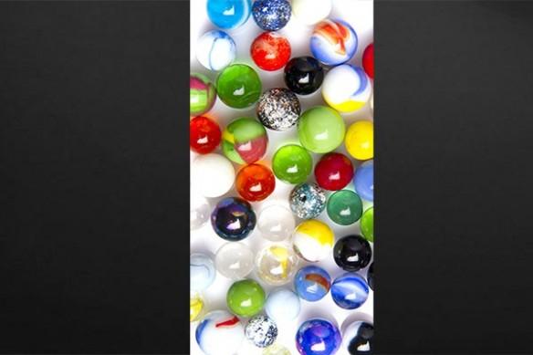 Sticker porte billes colorées