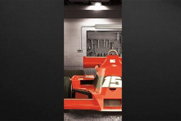 Sticker porte Formule 1 rouge