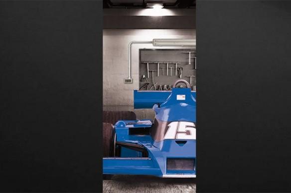 Sticker porte Formule 1 bleu