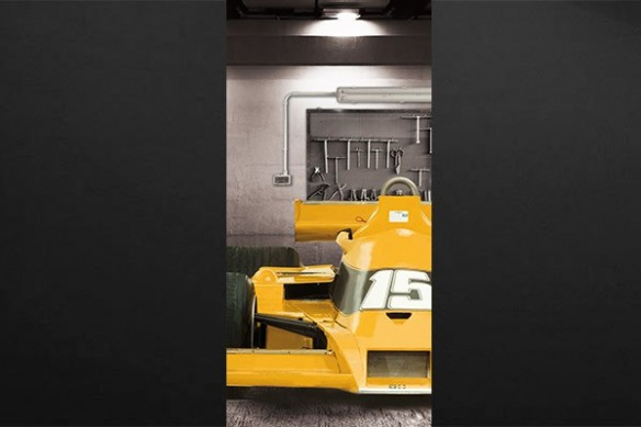 Sticker porte Formule 1 orange