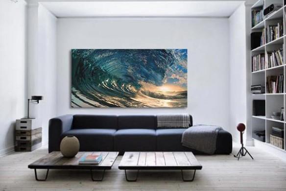 Tableau décoration blue wave