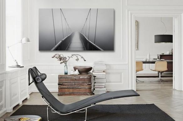 Toile déco pont Suspendu