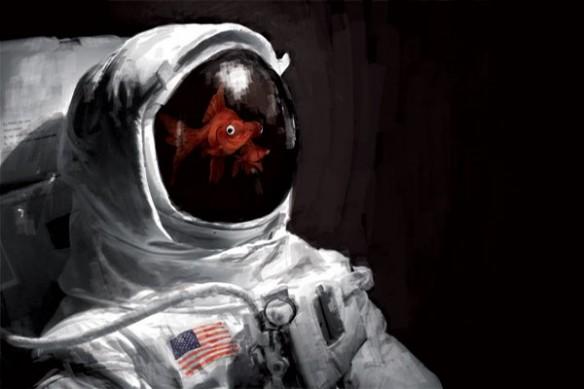 Papier Peint poster mural astronaute