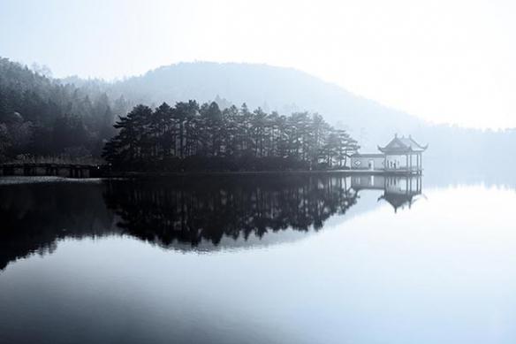 Papier Peint Décoration Lac de Chine