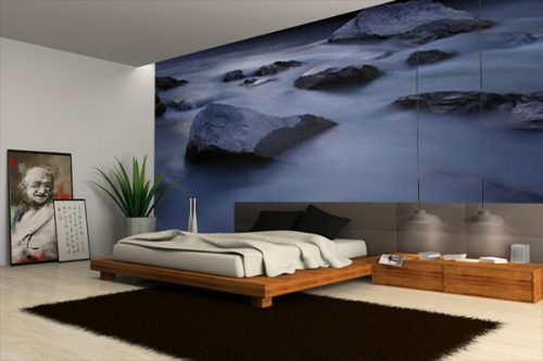 papier peint photo rocher et mer izoa. Black Bedroom Furniture Sets. Home Design Ideas
