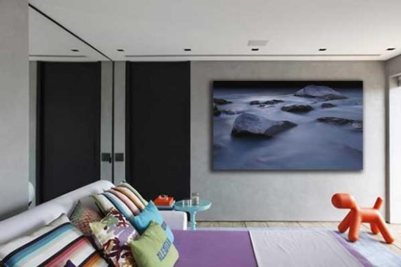 décoration chambre murale paysage Rocks