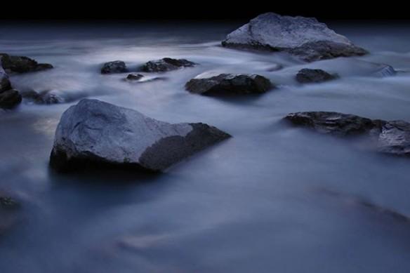 Rocks mer brumeuse