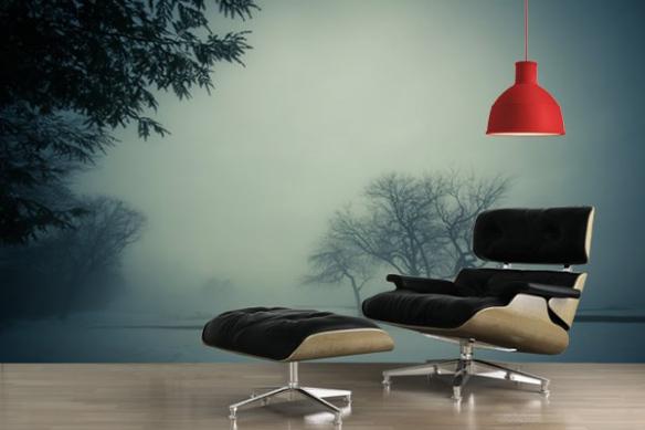 Papier Peint salon Forêt dans le brouillard